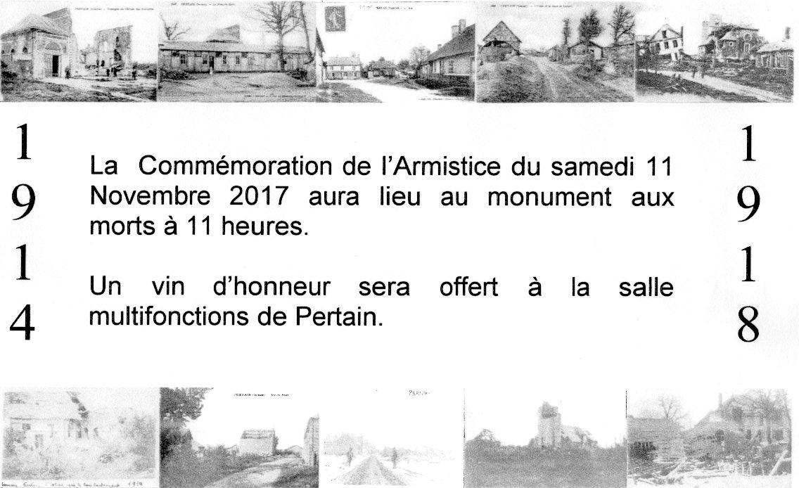Commémoration de l Armistice